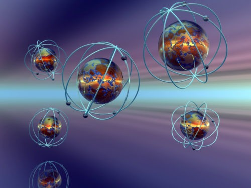 Image of atoms floating in space | NLP World.
