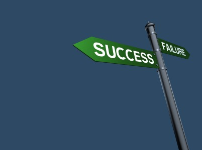 Image of a road sign pointing to success and failure| NLP World.
