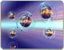 Image of atoms floating in space | NLP Master Practitioner Course