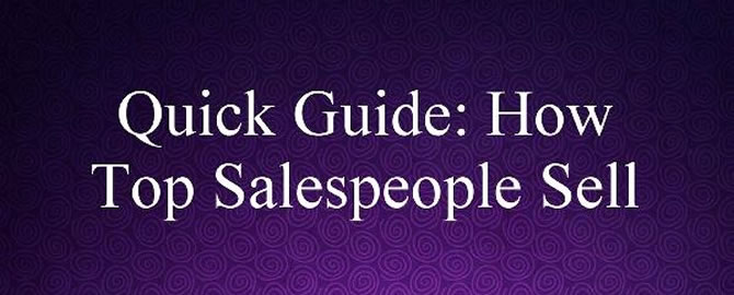 How to Spot, Mimic and Become a Top Salesperson