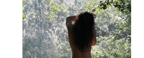 Girl in seasons, forest