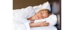 deep sleep image of woman in bed