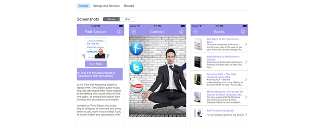 Hypnosis Audio and NLP Business App