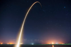 SpaceX timelapse photo symbolising journey through time and space